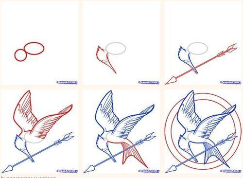 mockingjay | bookshelves of doom: Mockingjay drawing tutorial.