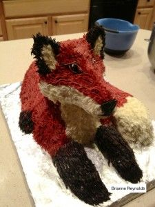 It is a CAKE, made to look like a FOX.