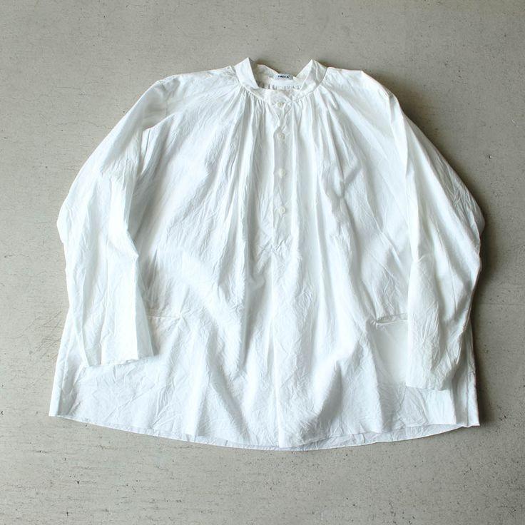 Big Tuck Button Shirt #white