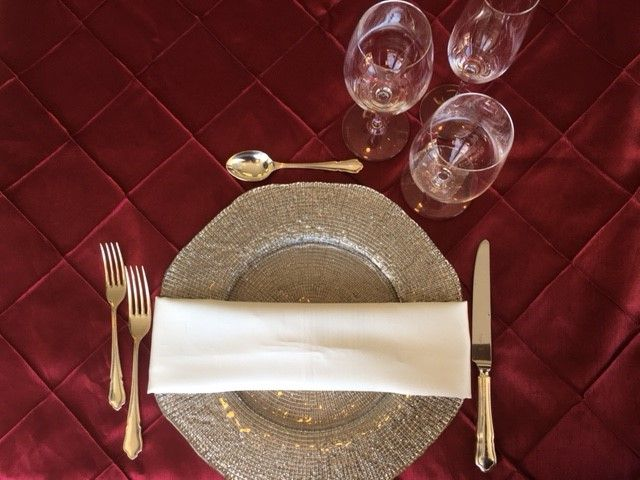 Simple Romance - Diamante Chargers, Silver Cutlery, and Riedel Glassware