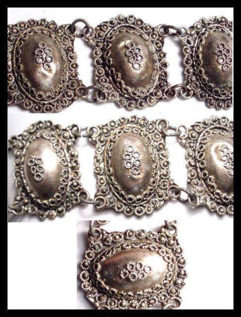 Exotic Antique Etruscan silver Bracelet Victorian bracelet European silver bracelet. $225.00, via Etsy.
