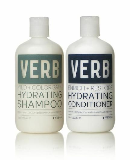 VERB HYDRATING SHAMPOO AND CONDITIONER contains quinoa protein that replenishes moisture, preserves color, and protects against heat styling.