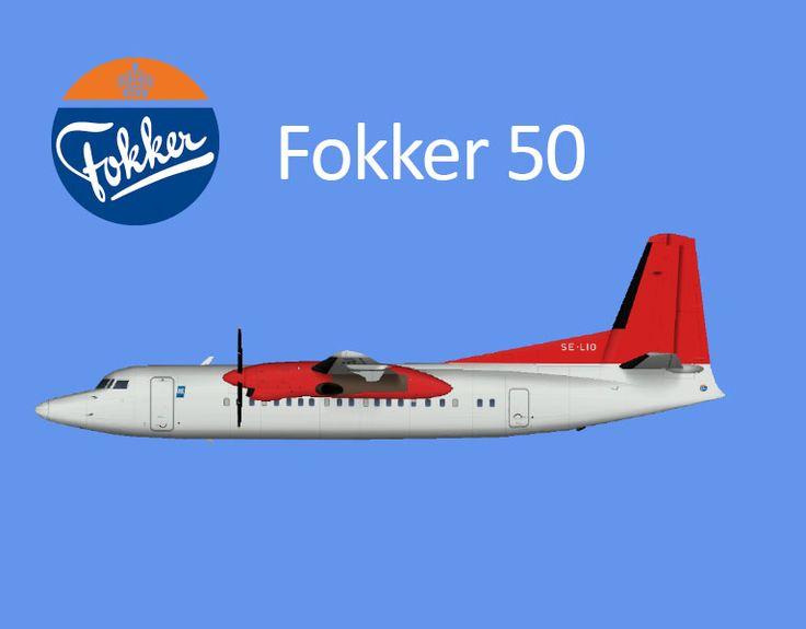 Amapola Flyg Fokker 50 Ex. Directflyg Livery FS9