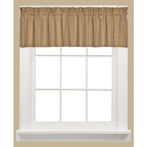 saturday knight hopscotch check 58 x 13 valance 20 liked on polyvore featuring home home decor window treatments curtains tan rod pocket
