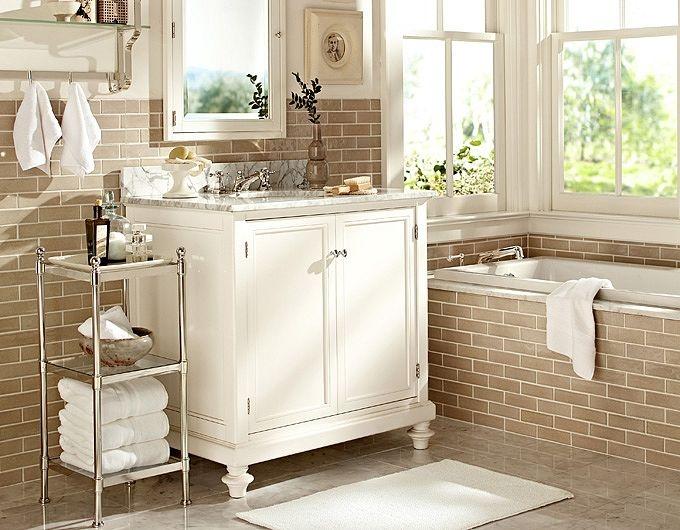 Small bathroom ideas bathroom inspiration pottery barn for Pottery barn bathroom ideas