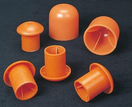 "Mutual Industries 14640-2 Large Rebar Cap, 2"", Orange"