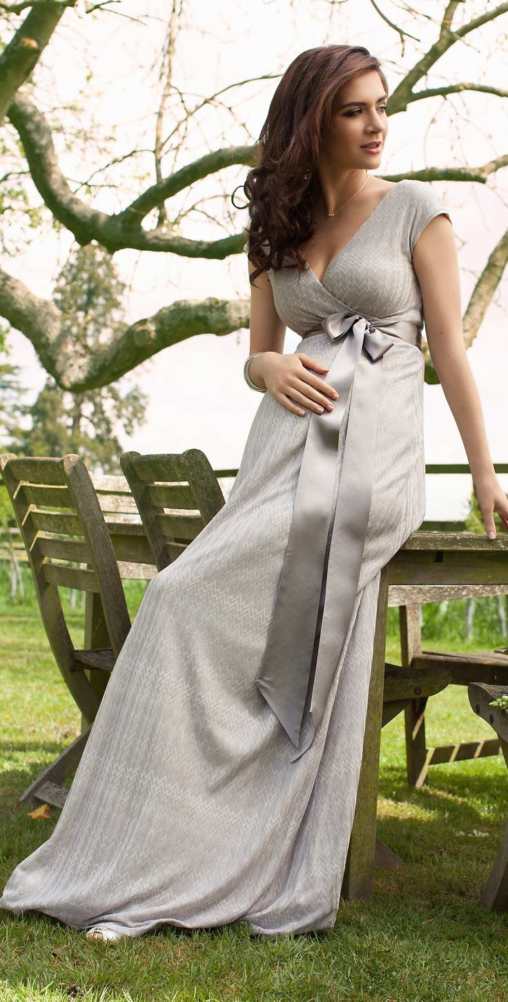 Summer Breeze Maxi Maternity Dress (Silver) - Maternity Wedding Dresses, Evening Wear and Party Clothes by Tiffany Rose