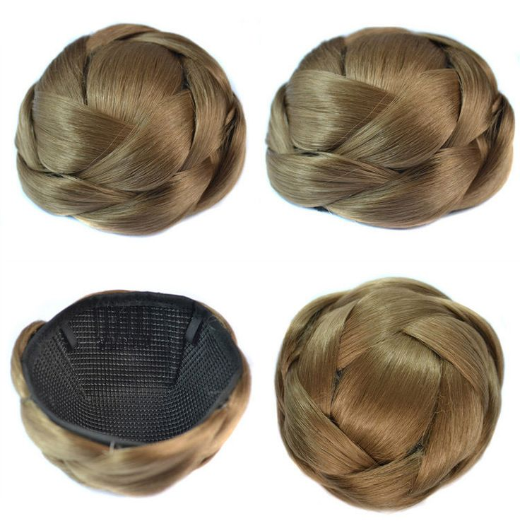 Q85   Synthetic hairbuns chignons color of 18# bridal hair chignon