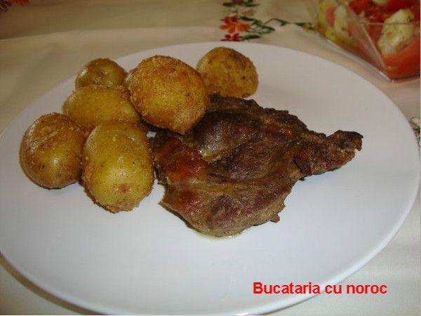 Friptura de vita marinata in sos de mustar si zahar brun - Bucataria cu noroc