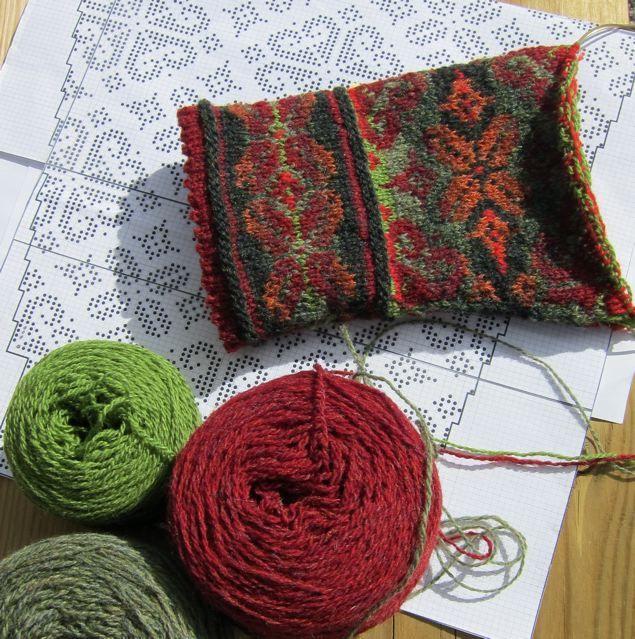 Fair Islempattern, Born to knit