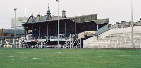 Resultado de imagem para Bishop Auckland's old Kingsway ground