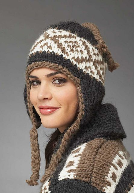 Free pattern for Earflap Hat. I am totally making one of these this winter...Rd