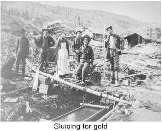 Sluicing for gold