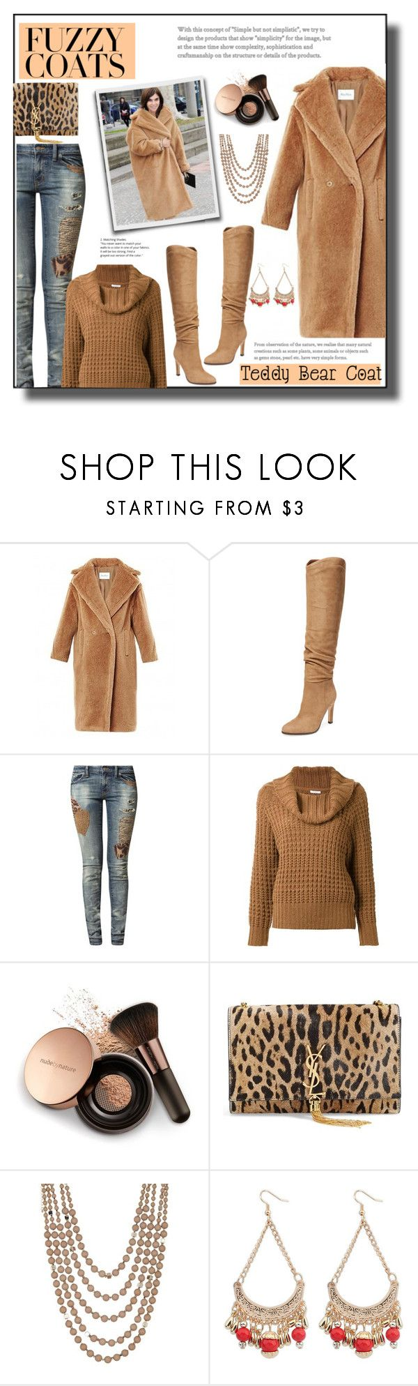 """Keep it Cozy:  Fuzzy Coats"" by cathy1965 ❤ liked on Polyvore featuring MaxMara, Sigerson Morrison, Ralph Lauren, En Route, Nude by Nature, Yves Saint Laurent, Madison Parker, Chicnova Fashion and fuzzycoats"