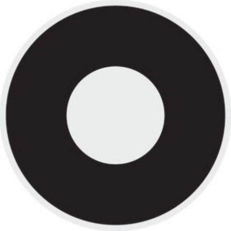 Podkładki pod kubek rondo czarne.