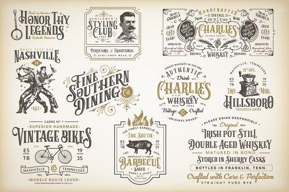 10 Vintage Victorian Badges Logo Templates Vintage Logo Logo Design