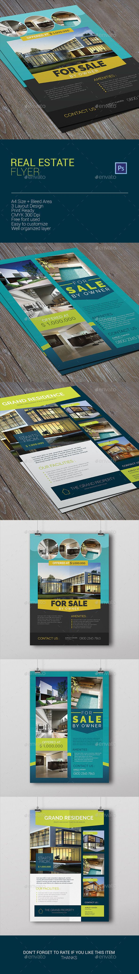 images about real estate psd template real estate flyer