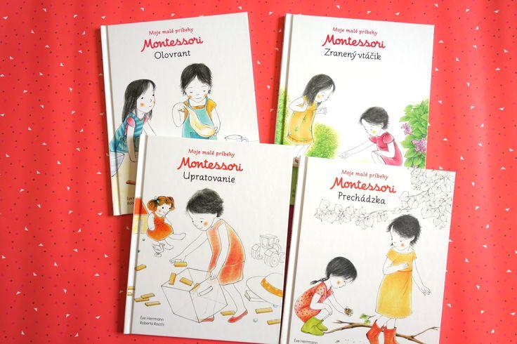 Balíček Montessori príbehov 4 za cenu 3. Jednoduché príbehy založené na princípoch Montessori výchovy, ktoré deťom pomôžu spoznávať a objavovať svet. #balicek #knih #montessori #pribehy #deti #prechadzka #olovrant #upratovanie #zranenyvtacik