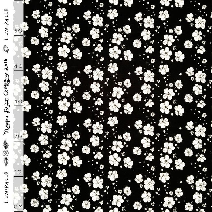 Lumipallo puuvilla-pellava, mustavalkoinen | Nuppu Print Company