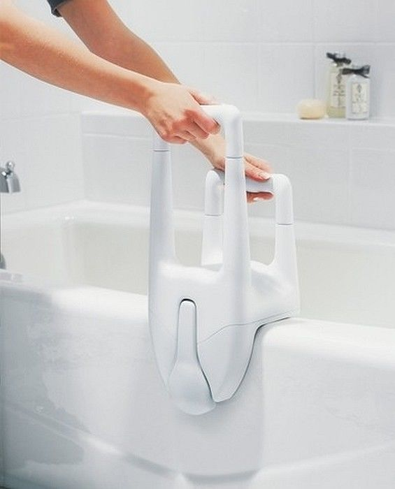 Bathtub Safety Bars for Elderly #DisabledBathroomSafety >> Visit us for more info at http://www.disabledbathrooms.org/handicap-grab-bars.html