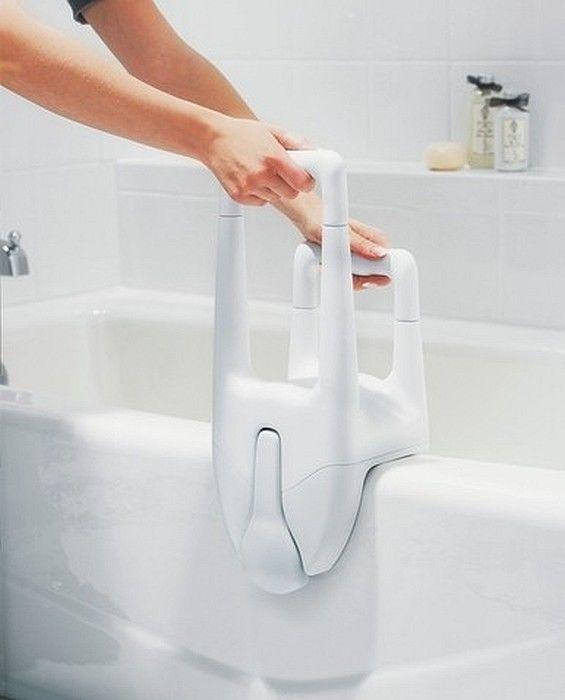 Bathtub Safety Bars for Elderly #DisabledBathroomSafety >> Visit us for more info at http://www.disabledbathrooms.org/handicap-grab-bars.html