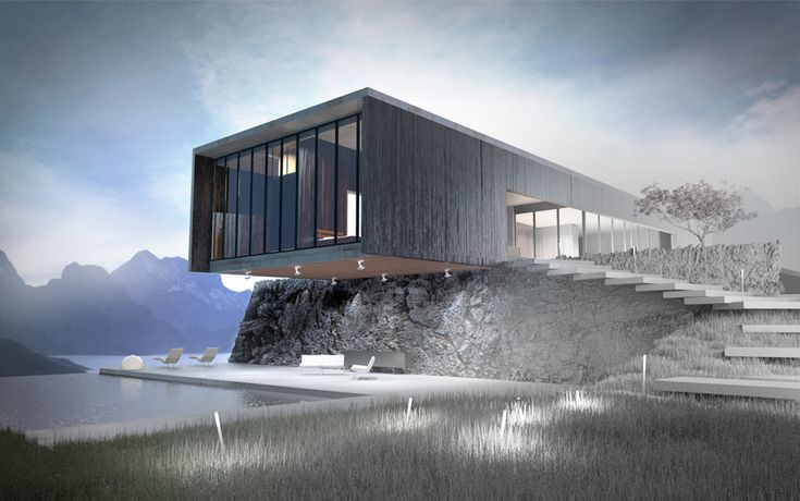Perspective D Une Villa : Images about architectural renderings concepts