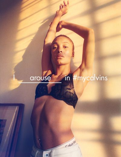 Something to talk about in #mycalvins. Model and...