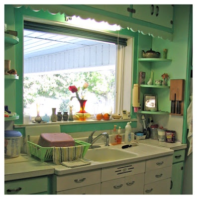 Vintage mint green kitchen in Kentucky <3 | Photo by: Amy Cameron Evans Blog: Made In Mississippi
