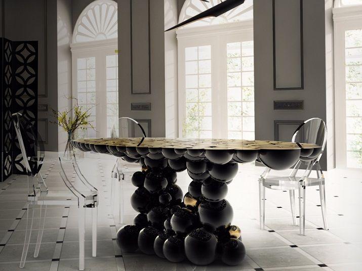 """""""Newton"""" Esstisch Boca do Lobo #futuristisch #gold möbeldesign"""