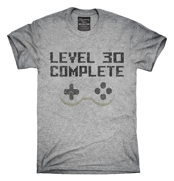 You can order this Level 30 Complete Funny Video Game Gamer 30th Birthday t-shirt design on several different sizes, colors, and styles of shirts including short sleeve shirts, hoodies, and tank tops.  Each shirt is digitally printed when ordered, and shipped from Northern California.