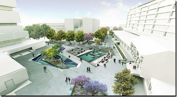 Rotterdam water square.