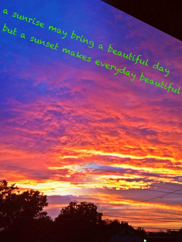 Beautiful sunset / photo editing