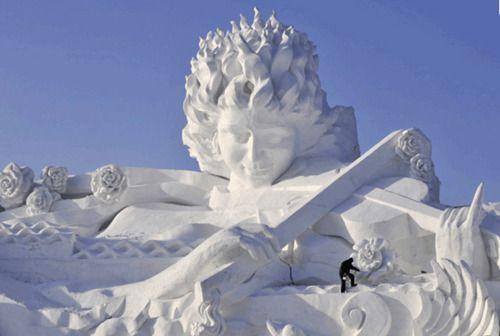 Epic Snow Sculpture