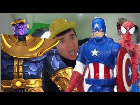 Thanos Guerras Infinitas Capitão América Homem Aranha  Deadpool  Abominá...