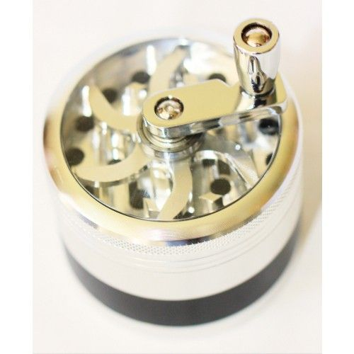 HERB GRINDER OLD FASHIONED HAND WHEEL 3 LAYER HIGH QUALITY  Best buy $39.99