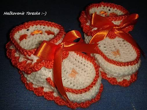 hackovanie-Terezka / papucky oranžova maslicka