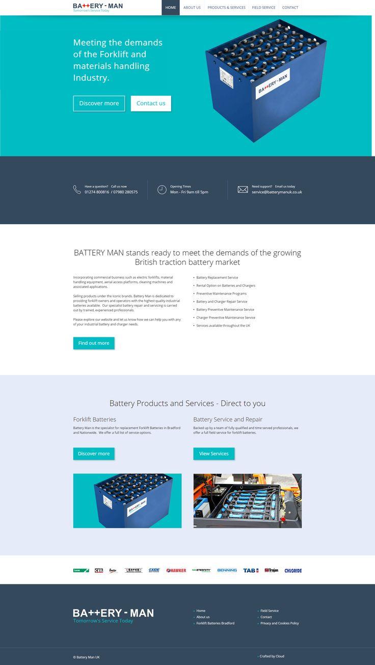 Website for Battery Man UK of Bradford, Yorkshire.  #website #webdesign #battery #bradford #yorkshire #forklift