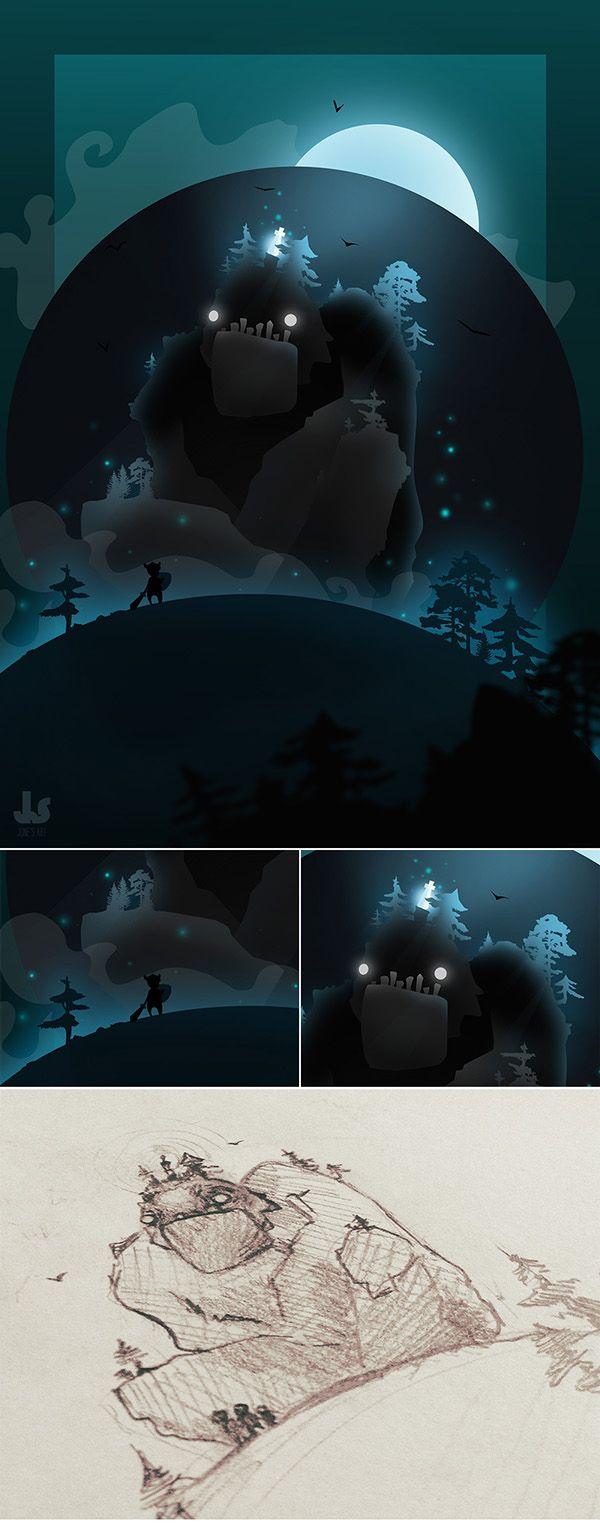 Warrior's Journey Character Design, Game Design, Illustration  (junes art)
