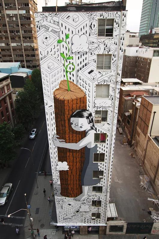 """""""Never Give Up"""" by Millo in Santiago, Chile"""