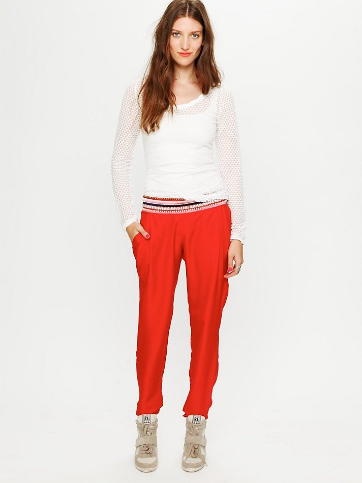 Free People What Comes to Mind Embellished Pant, $488.00Tapered Pants, Pants Free, Style, Mindfulness Embellishments, Embellishments Pants, People Pants, People Red, Summer Pants, Free People