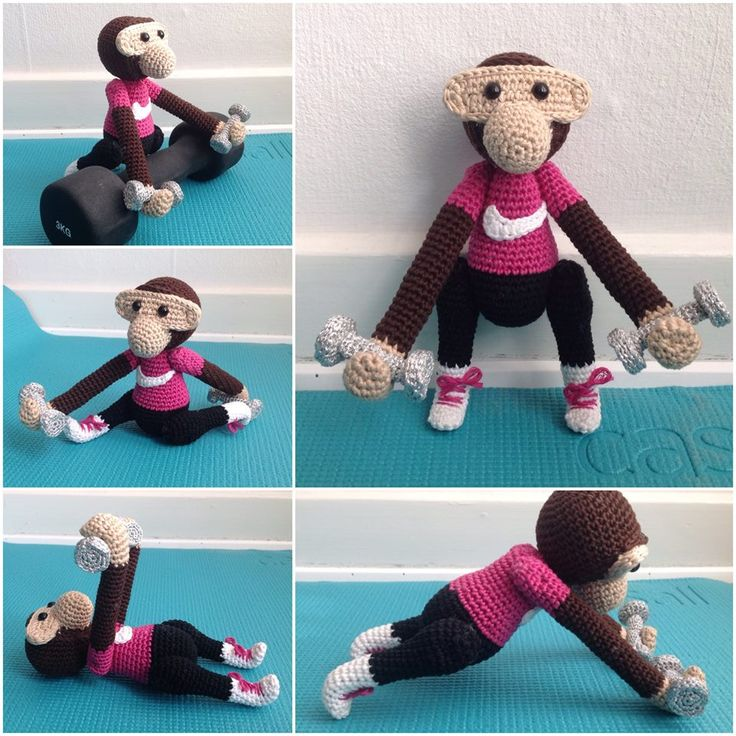 Another Fabulous crochet KB Monkey made by Hanne Bertholdt Ørum‎ Artist with a crochet hook
