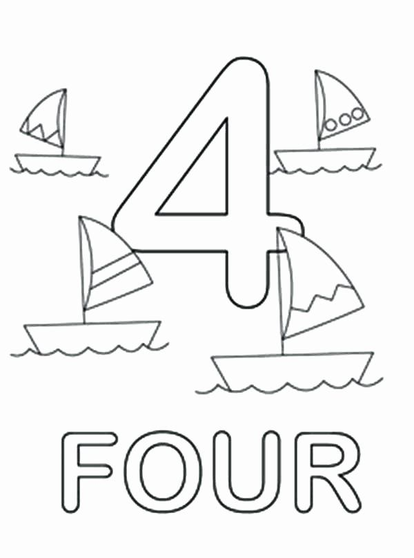 Number Four Coloring Page Awesome Number 4 Coloring Page At Getdrawings Coloring Pages Coloring Pages Winter Online Coloring