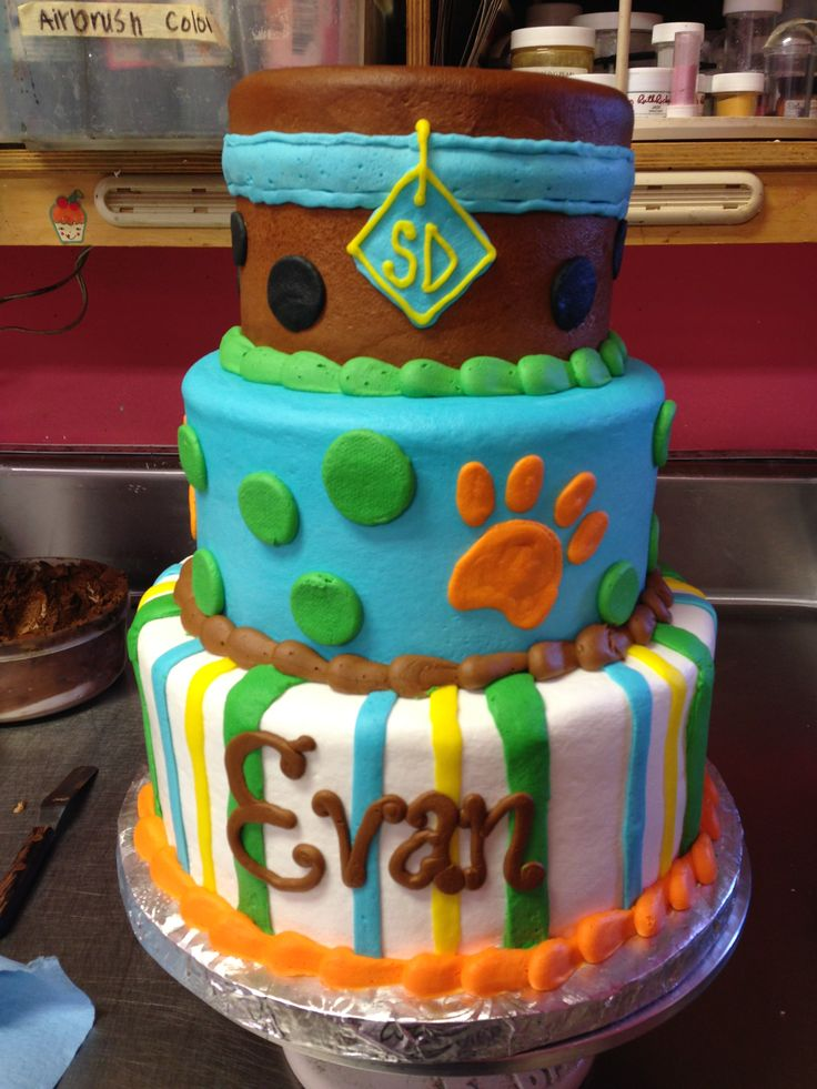 Buttercream Scooby Doo Cake With Evans Name Already Lol