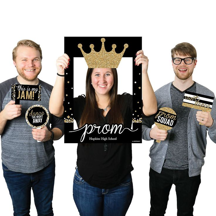 Prom – Personalized Prom Night Party Photo Booth Picture Frame & Props – Printed…