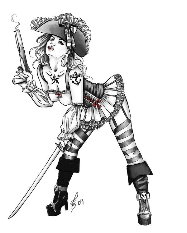 Pirate Pin Up Girl | Pin-up Pirate by *Socialdbum on deviantART