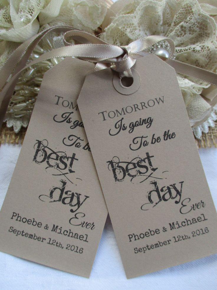 Tomorrow Is Going To Be The Best Day Ever-Wedding