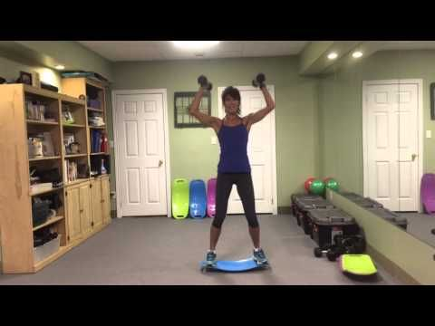 Simply Fit Board Total Body Workout With Rosalie Brown 1 of 3 - YouTube