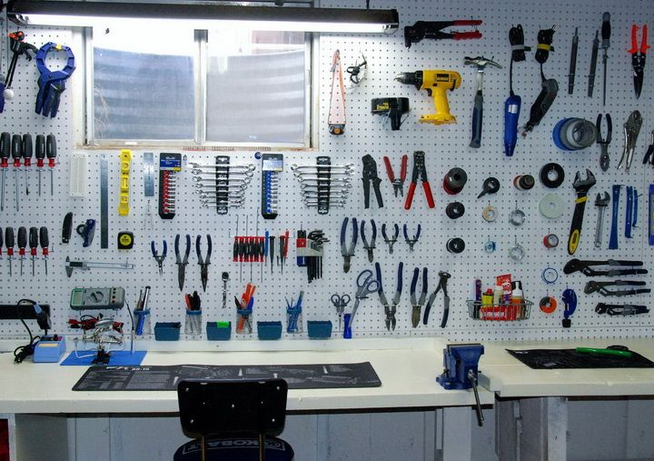 Things Organized Neatly - tools in garage