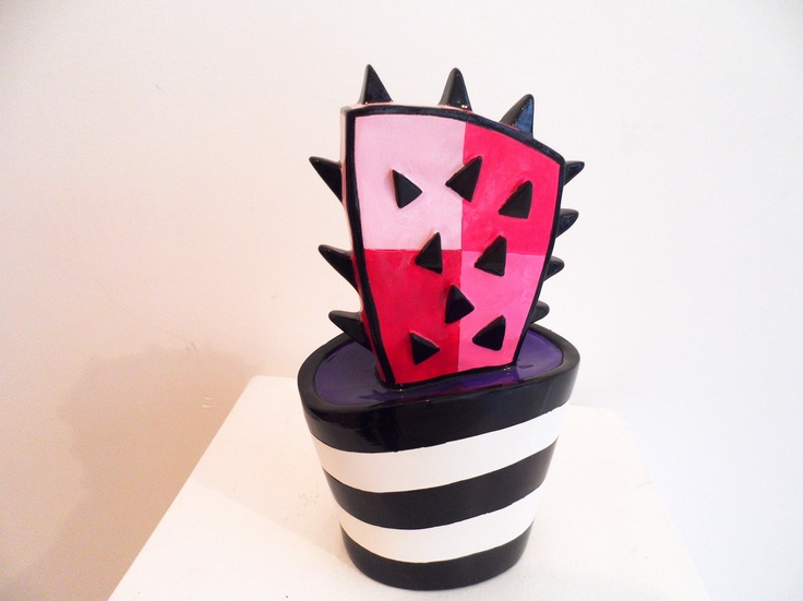 Cactus rose - résine - pièce numérotée - disponible chez Colorfield Gallery