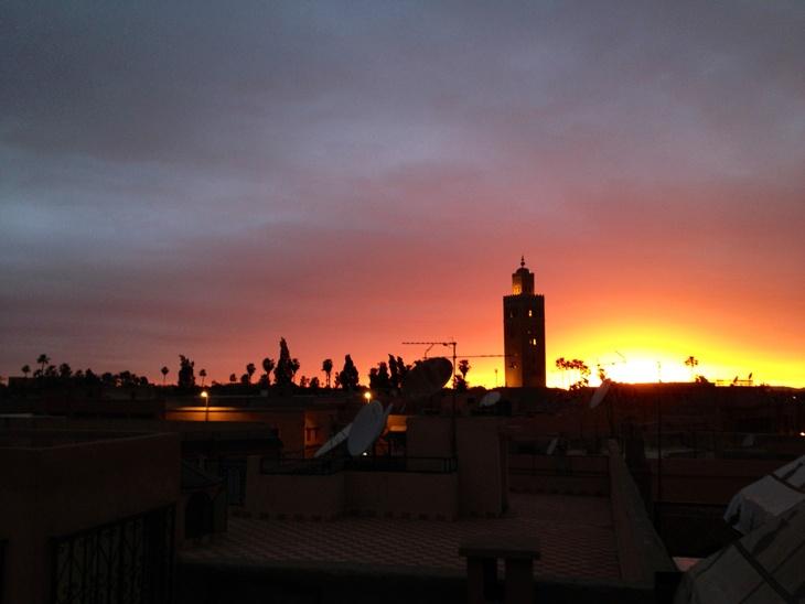 Sunset overlooking Marrakech